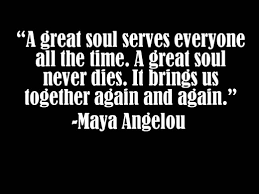 a great soul maya angelou image
